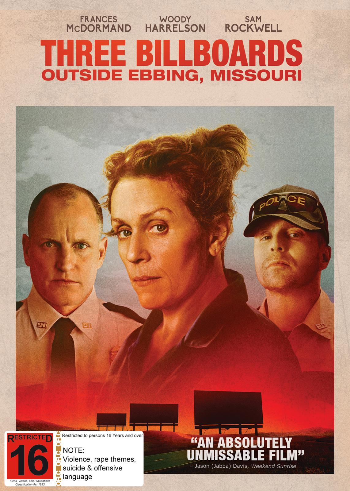 Three Billboards Outside Ebbing, Missouri on DVD image
