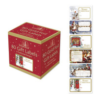 Christmas Adhesive Labels - Traditional (80 Pack)