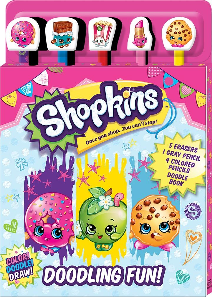 Shopkins: Pencil & Eraser - 5-Piece Set image