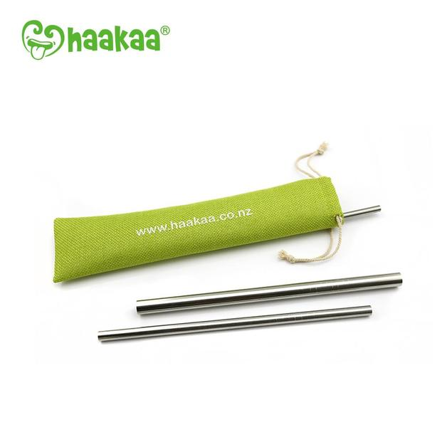 Haakaa: Stainless Steel Straw - Straight w/ Ridges 6mm (3 Pack)