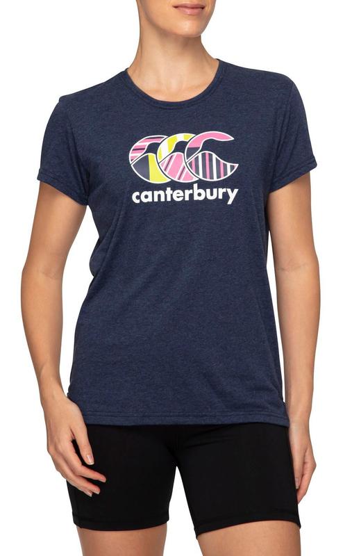 Canterbury: Womens CCC Uglies Tee - Navy Marl (Size 14)