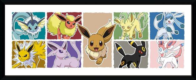 Pokemon: Eevee Evolutions - Collector Print (30x75cm)