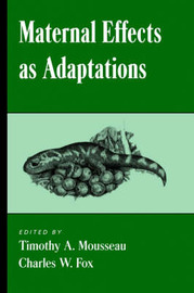 Maternal Effects as Adaptations image