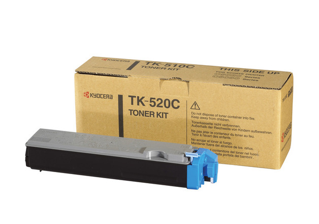 Kyocera TK520C Cyan Toner Kit for FS-C5015N Colour Laser Printer