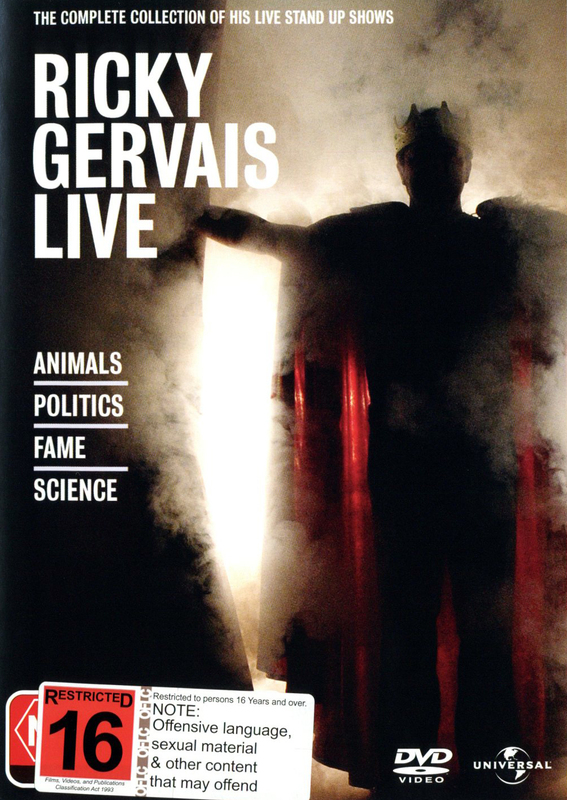 Ricky Gervais Live - The Complete Collection on DVD
