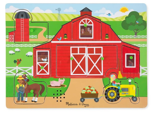 Melissa & Doug: Around the Farm - Sound Puzzle