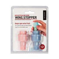 Breathtaking Vacuum Wine Stopper Twin Pack (Pink/Purple)