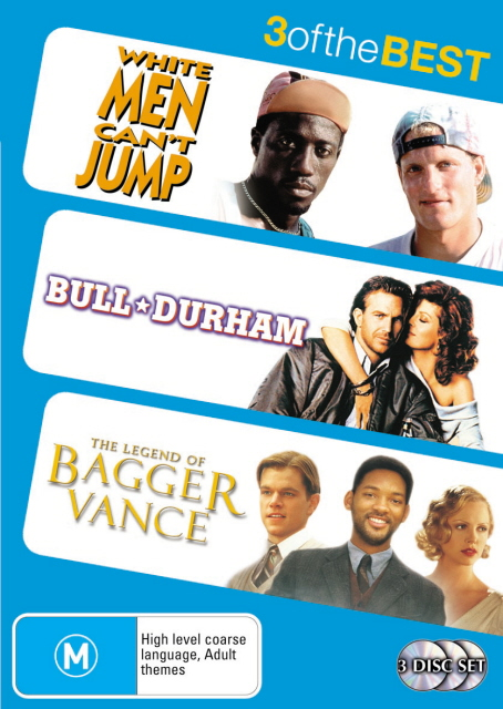 White Men Can't Jump / Bull Durham / Legend Of Bagger Vance - 3 Of The Best (3 Disc Set) on DVD image