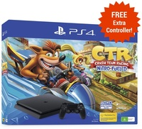 PS4 Slim 1TB Crash Team Racing Limited Edition Console for PS4