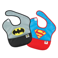 DC Comics Super Bib 2 Pack - Batman & Superman