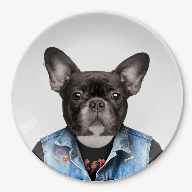 Wild Dining: Ceramic Dinner Plate - Dog (23cm)