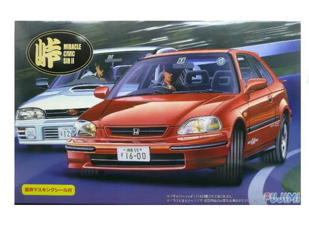 Fujimi: 1/24 Honda Civic Miracle SIRII - Model Kit