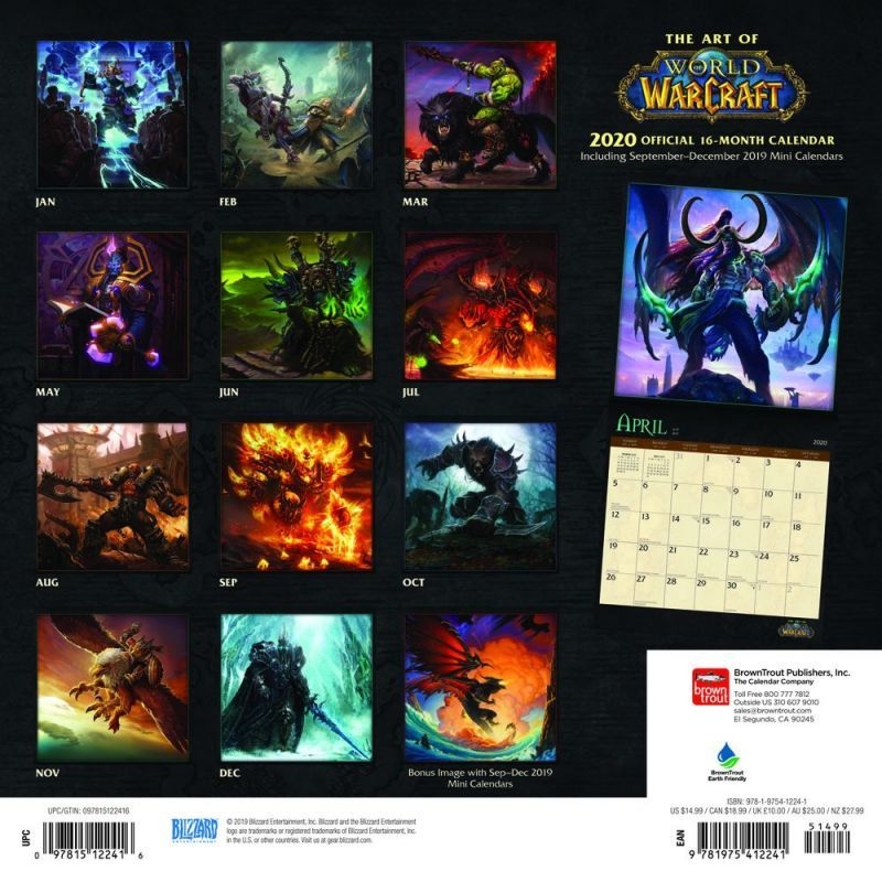 World of Warcraft 2020 Square Wall Calendar image