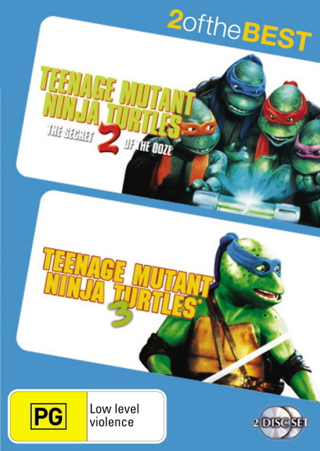 Teenage Mutant Ninja Turtles 2 / Teenage Mutant Ninja Turtles 3 - 2 Of The Best (2 Disc Set) on DVD