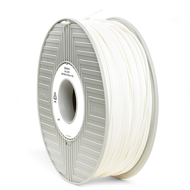 Verbatim 3D Printer ABS 3.00mm Filament - 1kg (White)