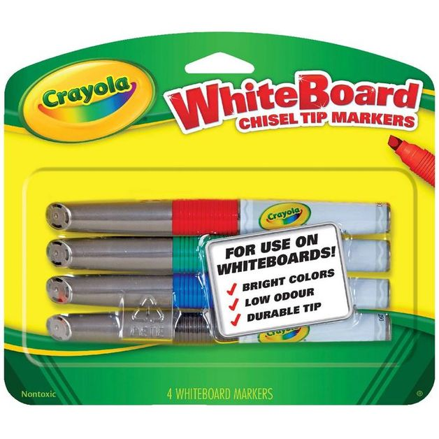 Crayola: Visi-Max - Dry Erase Markers (Chisel Tip)