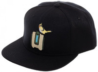 Overwatch Bastion Black Snapback Cap