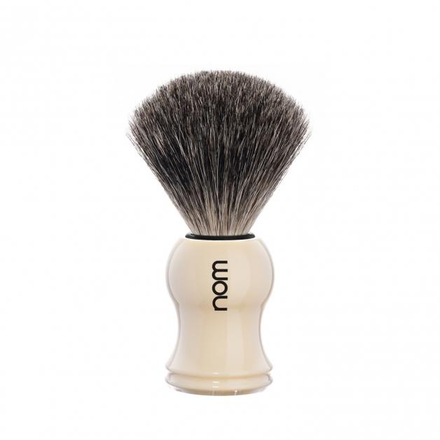 Nom GUSTAV 81 CR Badger Shaving Brush - Ivory