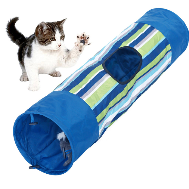 Collapsible Indoor Pet Tunnel - Blue