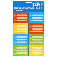 SKINZ Book Labels 16pk Brights