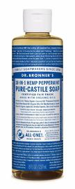 Dr. Bronner's Pure Castile Liquid Soap - Peppermint (236ml) image