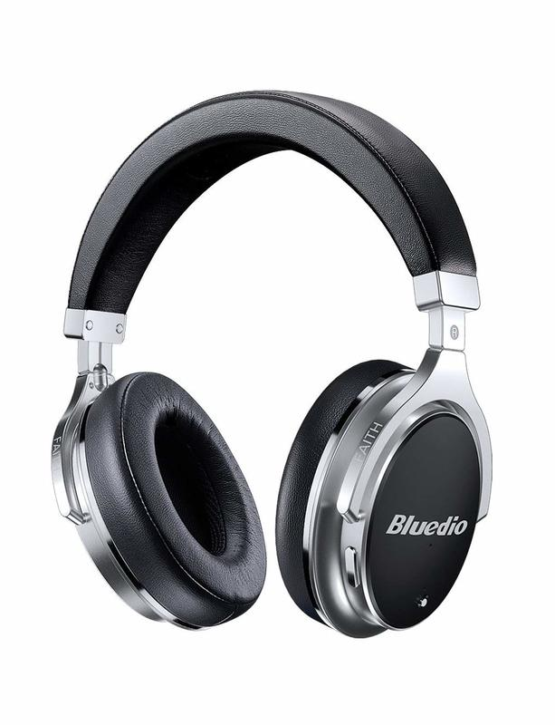 Bluedio F2 Active Noise Cancelling Over-Ear Wireless Bluetooth Headphones - Black