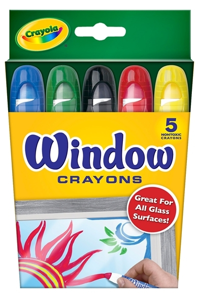 Crayola: 5 Washable Window Crayons image