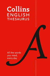 Collins English Paperback Thesaurus by Collins Dictionaries