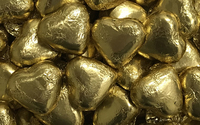 Milk Chocolate Hearts - Gold image