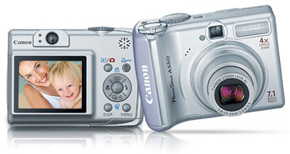 Canon A550 7.1Mp 4x Optical Zoom + 512Mb Sd Card Bundled With Imation 512Mb Sd Card