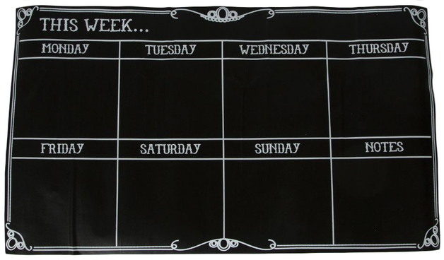 buy week planner chalkboard wall decal at mighty ape nz
