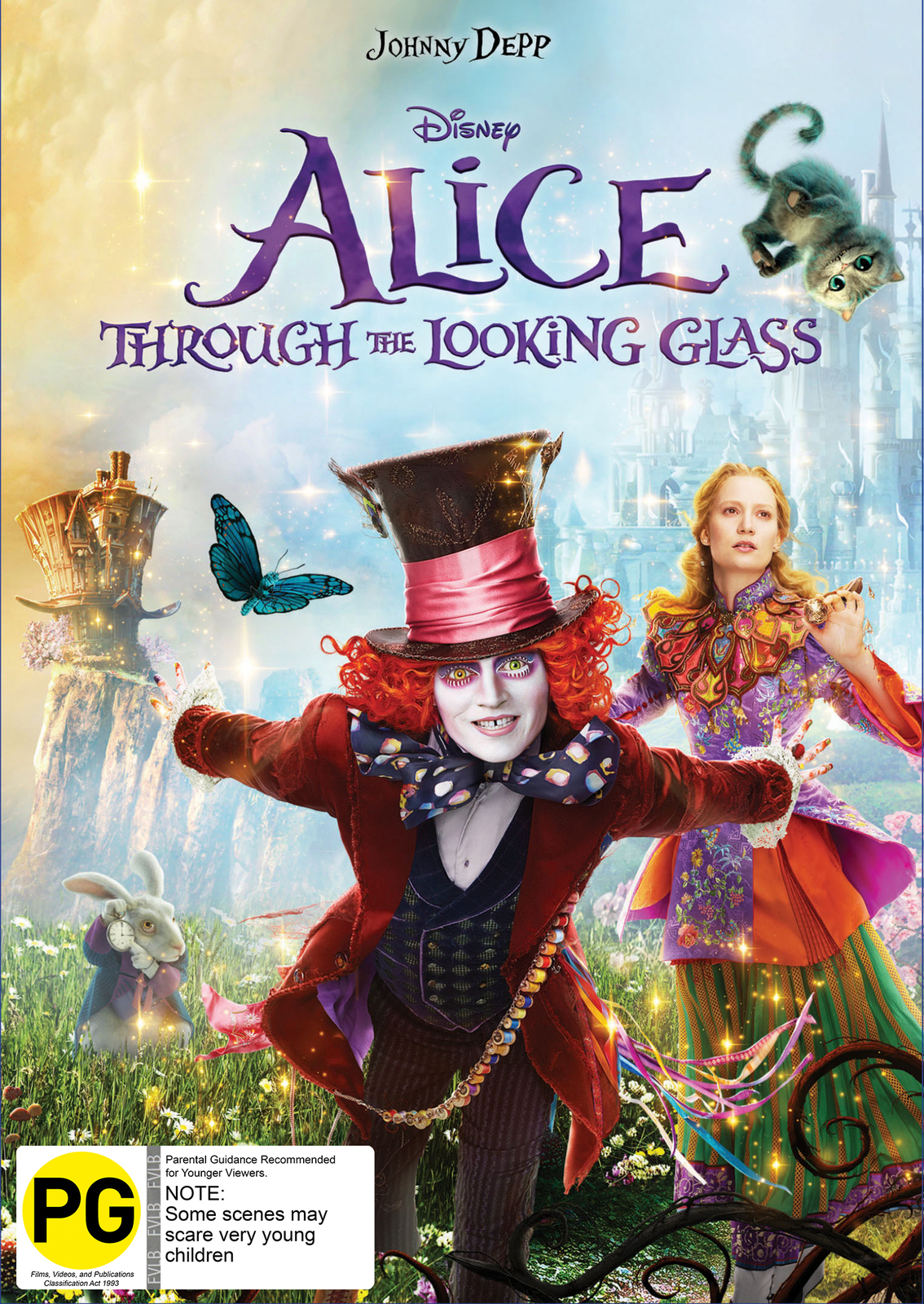 Alice Through the Looking Glass on DVD image