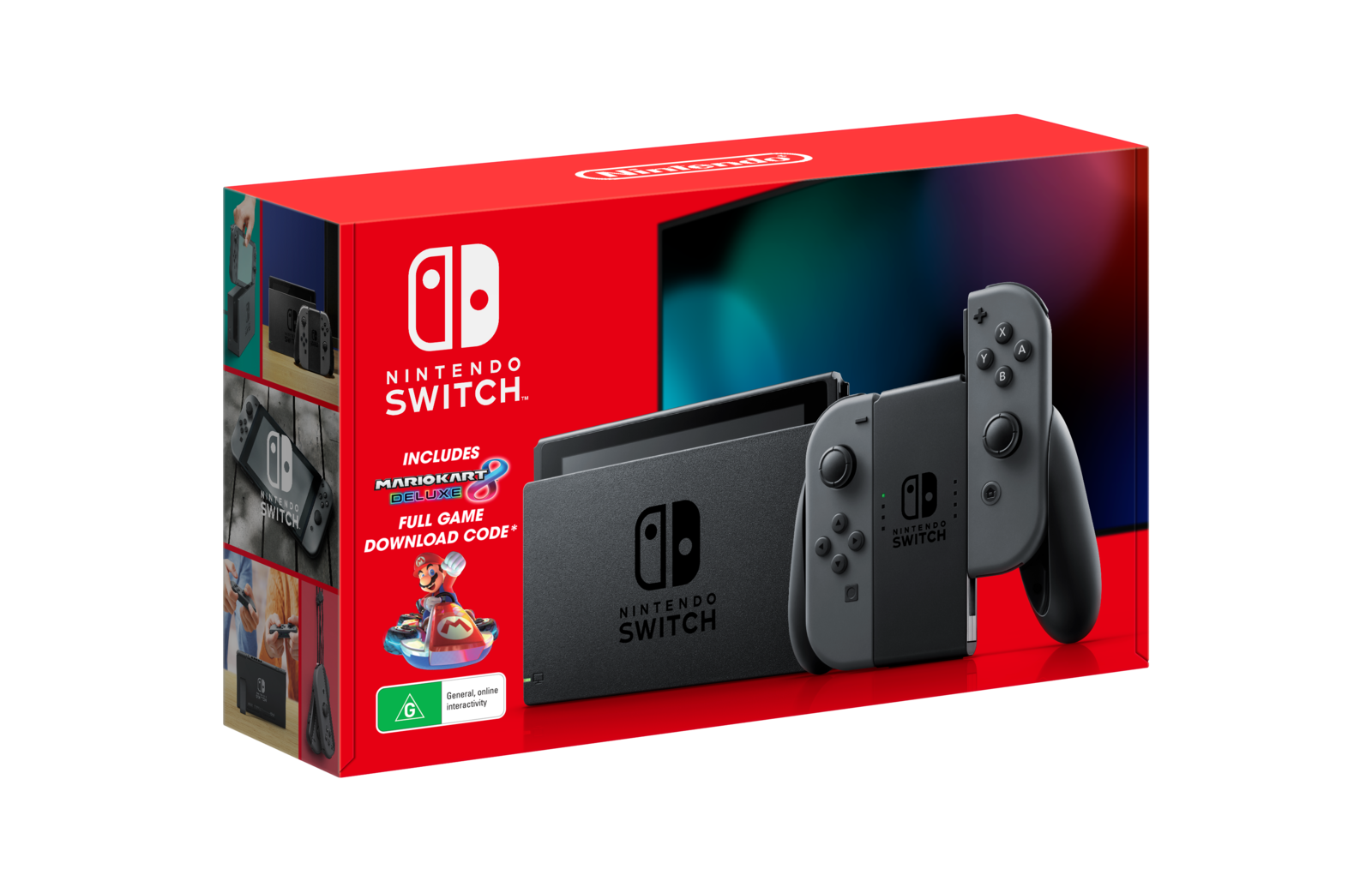 Nintendo Switch Mario Kart 8 Deluxe Grey Console Bundle for Switch image