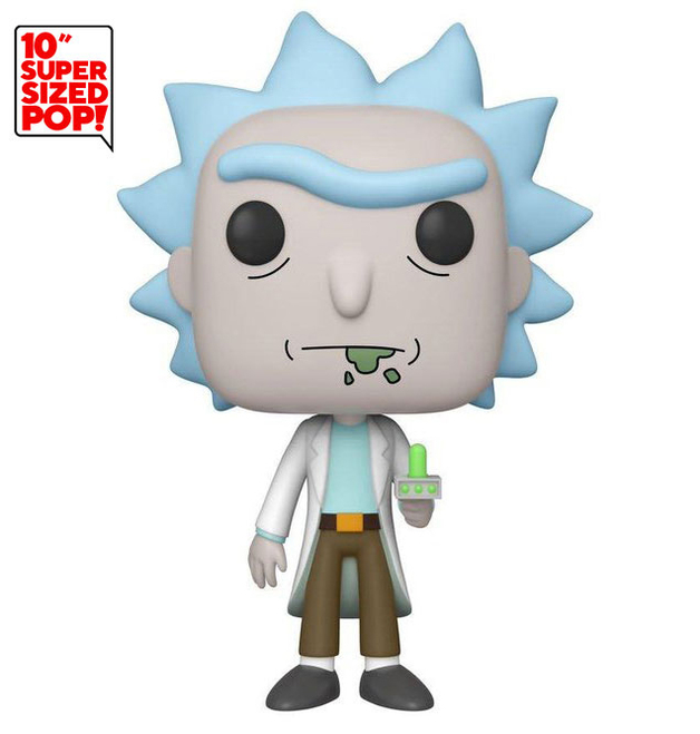 "Rick & Morty: Rick (with Portal Gun) - 10"" Super Sized Pop! Vinyl Figure"