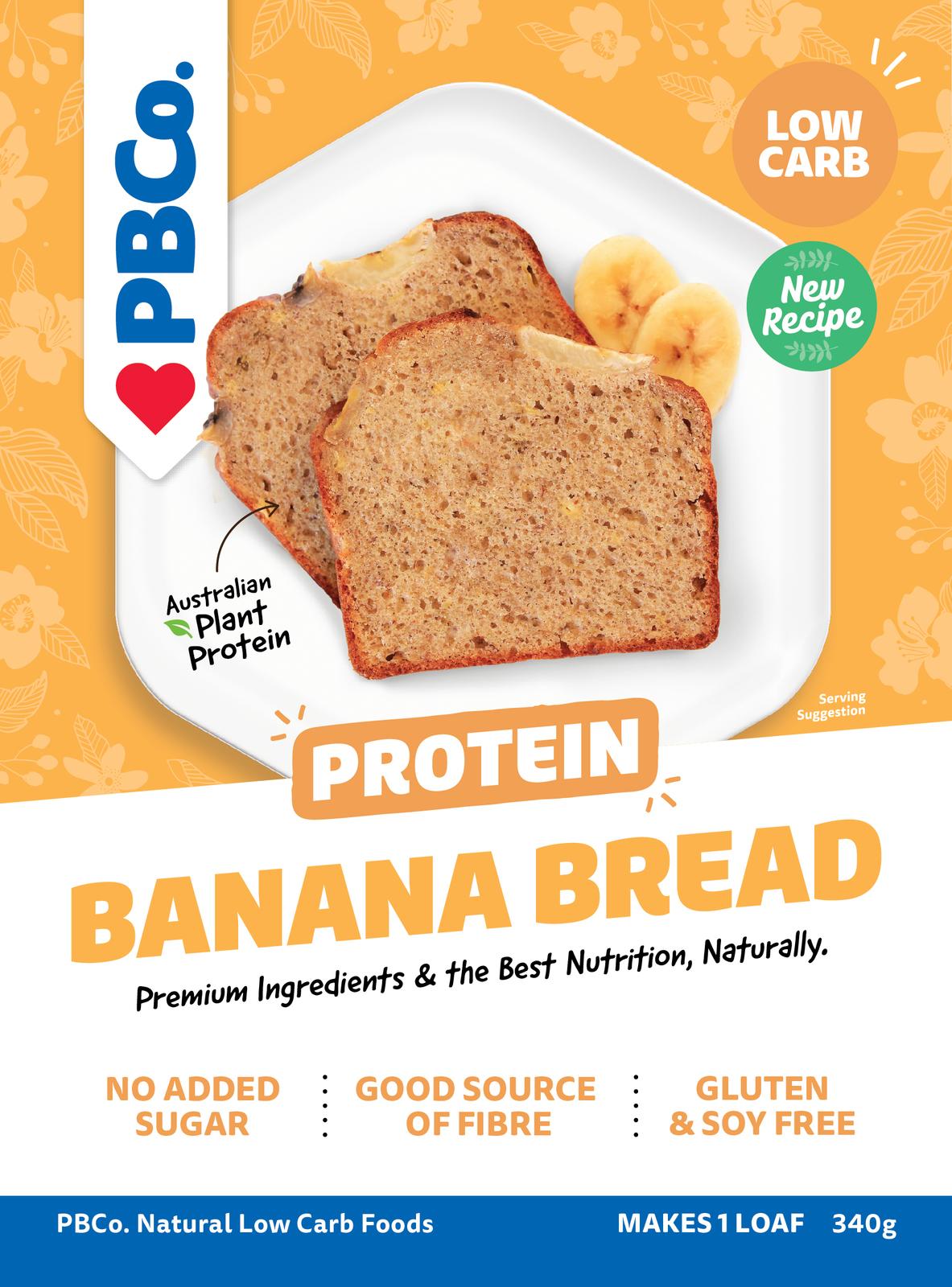 PBCo. Plant Based Protein Banana Bread (340g) image
