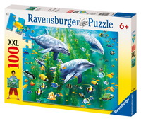Ravensburger 100 Piece Jigsaw Puzzle - Dolphin Trio
