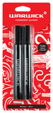 Warwick Permanent Bullet Tip Medium Marker Black Pkt2