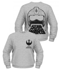 Star Wars: The Force Awakens X-Wing Fighter Helmet Sweatshirt (X-Large)