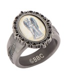 Doctor Who Weeping Angel Cameo Ring - Size 7