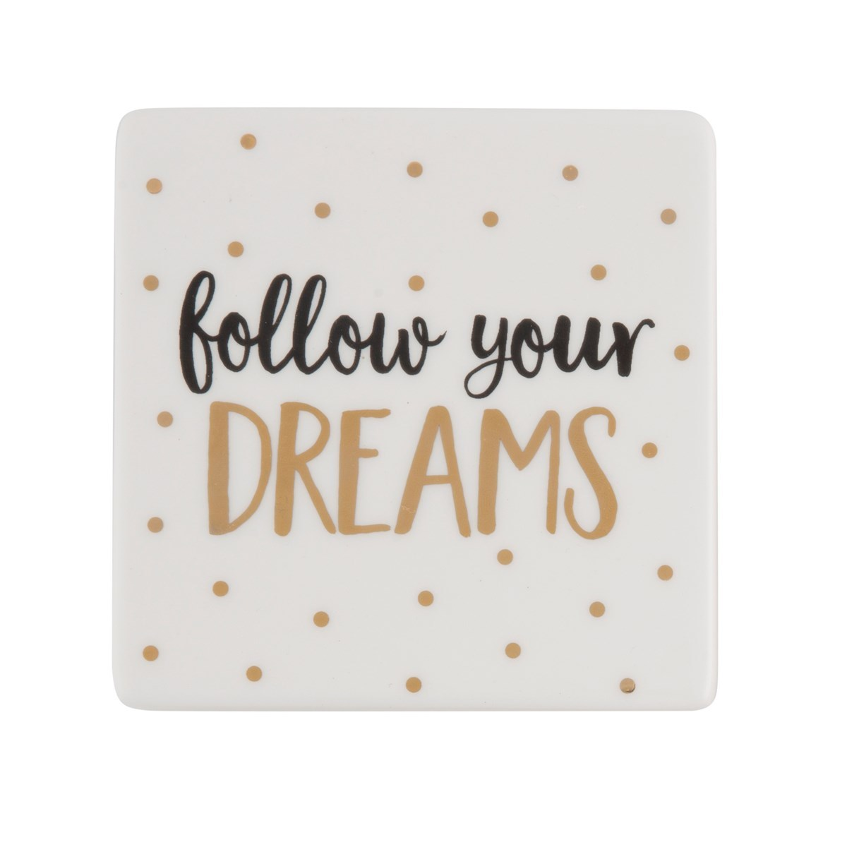 Dreams Metallic Monochrome Coaster image