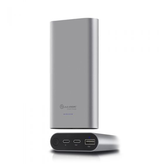 Alogic USB-C 15200mah Portable Power Bank - Space Grey With Power Delivery