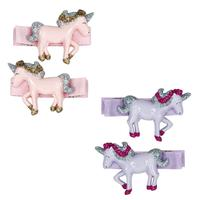 Pink Poppy: Prancing Unicorn Hair Slides