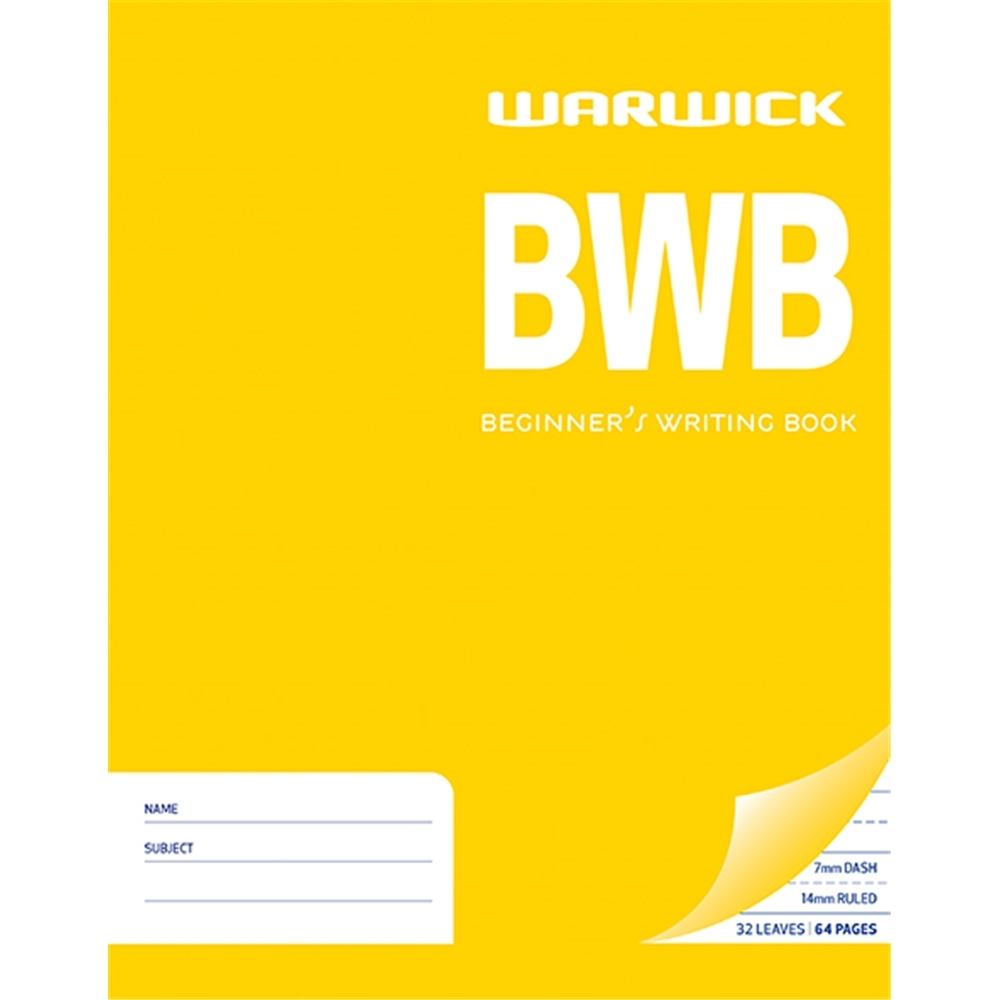 Warwick BWB 32lf 7mm Ruled Dashed Learn to Write Exercise Book image