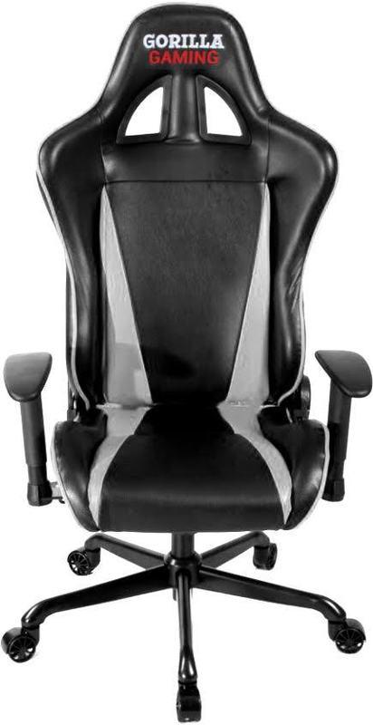 Gorilla Gaming Commander Chair - White & Black for