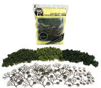 Woodland Scenics Lt Med Dk Green Trees (14 pack)