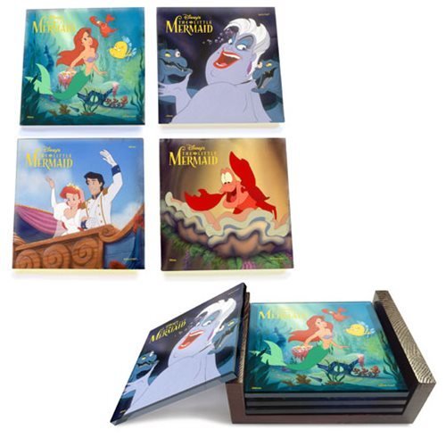 The Little Mermaid: StarFire Prints Glass Coaster Set image