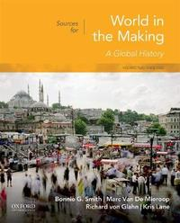 Sources for World in the Making by Bonnie G Smith
