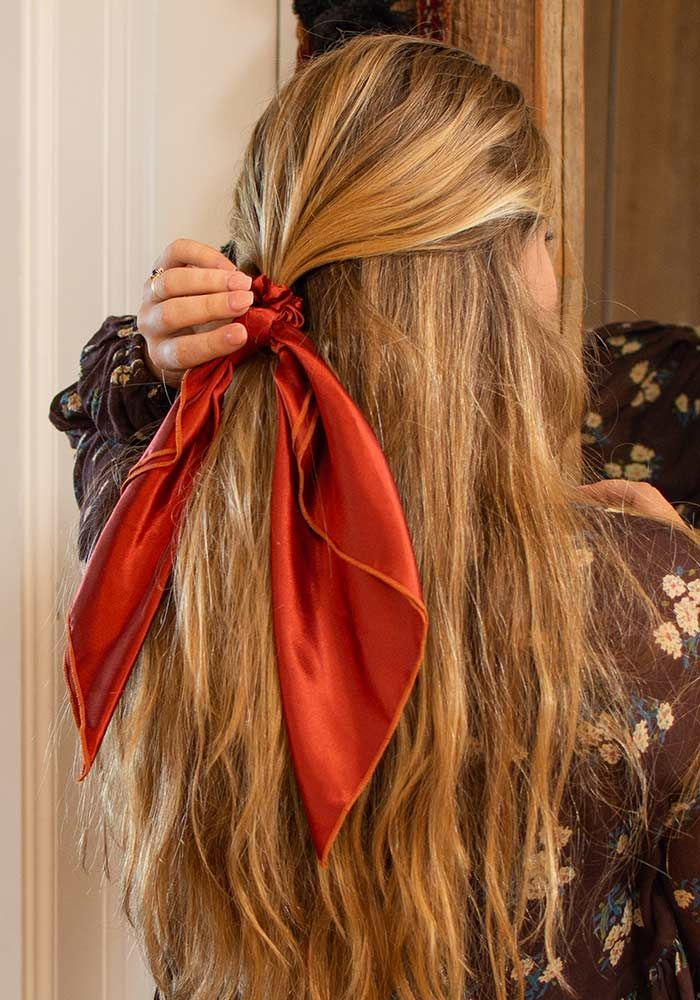 Natural Life: Scarf & Scrunchie - Rust image