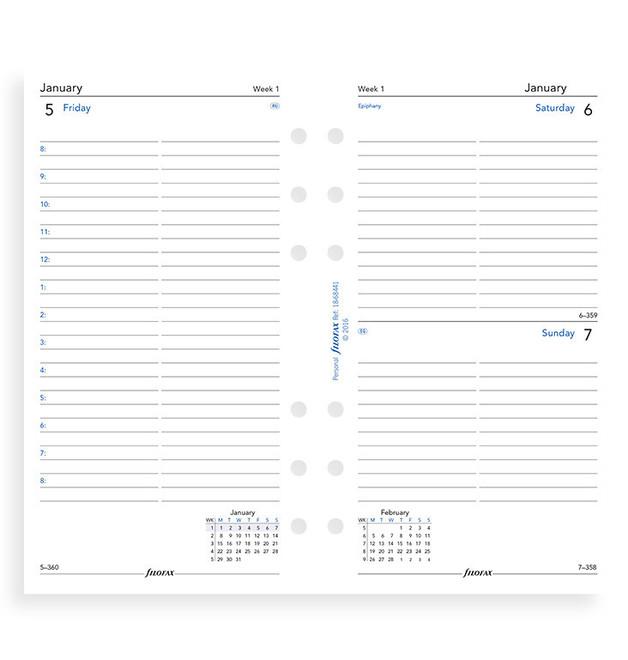Filofax: Personal 2020 Refill - Day per Page (Lined)