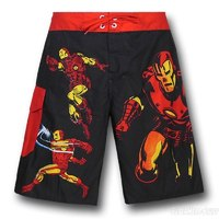 Iron Man Action Images Board Shorts (XS)